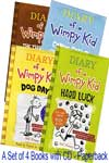 Diary of a Wimpy Kid Collection (4 Books Set) With CD