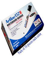 Artline 157R Whiteboard Marker Red, Green & Blue (30 Markers)