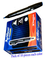 Artline Ergoline Roller Ball Pen 0.7mm Colors Blue, Green, Black & Red (40 Pens)