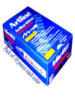 Artline 400XF Paint Marker Color Black, Blue, Green, Orange, Red, Yellow & White (70 Markers)